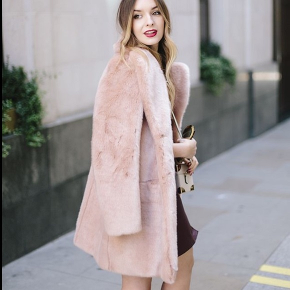 amazing price new lower prices famous brand KB Studio Jackets & Coats | Light Pink Faux Fur Coat Jacket Super ...